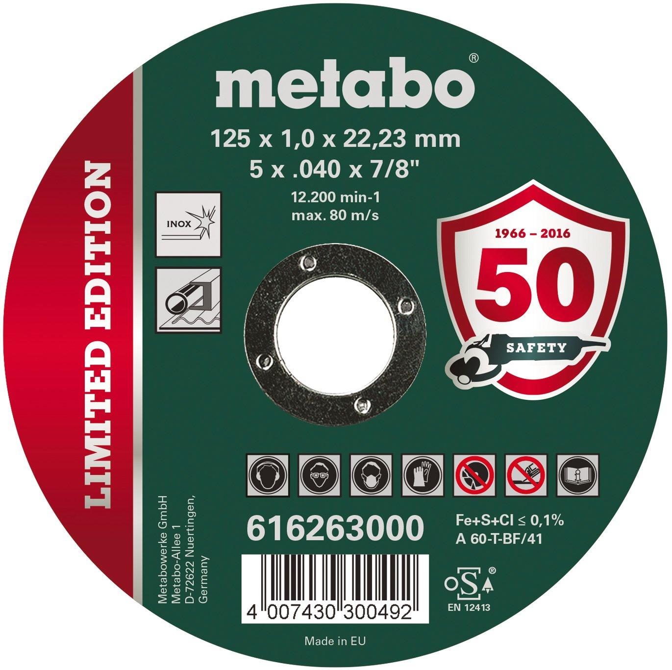 METABO - Limited Edition 125 x 1,0 x 22,23 Inox, TF 41