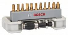 Bosch 11-częściowy zestaw końcówek bitów , w tym uchwyt do bitów