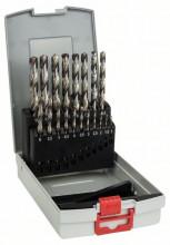 Bosch 19-dielna súprava vrtákov do kovu ProBox HSS-G, DIN 338, 135°