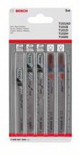 Bosch 5dílná sada pilových plátků do kmitacích pil Wood and Plastic