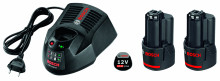 BOSCH 2x GBA 12V 3,0Ah + GAL 1230 CV Professional