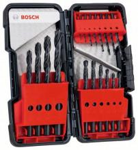 Bosch 18-częściowy zestaw wierteł do metalu HSS-R Toughb