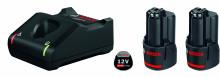 Bosch 2 akumulatory GBA 12V 2.0Ah + GAL 12V-40