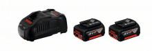 Bosch Zestaw startowy: 2 akumulatory GBA 18V 5.0Ah + GAL