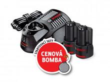 Bosch aku set 2X GBA 12V 2.0AH + GAL 1230 CV