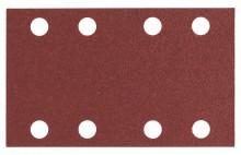 BOSCH Brusný papír pro vibrační brusky C430, balení 10 ks; 80 x 133 mm, 100, 8 otvorů