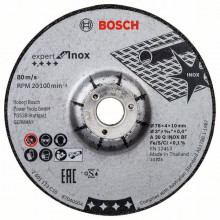 Bosch Brusný kotouč 76 × 4 × 10 mm, 2 ks, Expert for INOX