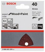 Bosch Brusný papír C430, balení 5 ks