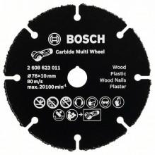 BOSCH Carbide Multi Wheel, víceúčelový tvrdokovem osazený kotouč do úhlové brusky - 76 mm; 1 mm; 10 mm
