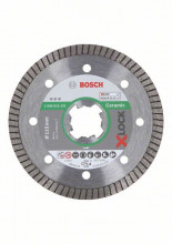 Bosch Diamantový rezací kotúč X-LOCK Best for Ceramic Extraclean Turbo 115 x 22,23 x 1,4 x 7