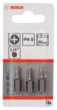 BOSCH Šroubovací bit zvlášť tvrdý Extra-Hart - PH 2, 25 mm