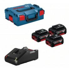 Bosch GBA 18V 5,0 Ah (3x) +GAL 18-40 CV, L-Boxx