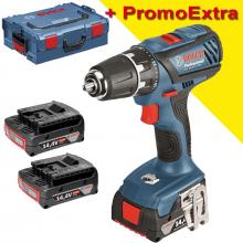 Bosch GSR 14,4-2-LI Plus + L-BOXX + 3x2,0Ah