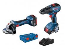 Bosch GWS 180 + GSR 18V + 2x GBA + GAL + XL-boxx