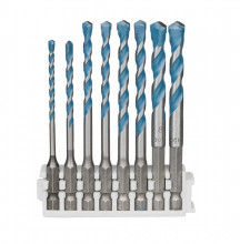 Bosch Hex-9 MultiConstruction, 3 mm, 4 mm, 5 mm, 5 mm, 6 mm, 6 mm, 8 mm, 8 mm