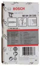 Bosch Sztyft, łeb wpuszczany, SK64 20G