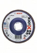 Bosch Tarcze listkowe z systemem X-LOCK, wersja prosta, płyta z tworzywa sztucznego, Ø 125 mm, G 60, X571, Best for Metal, 1 szt.
