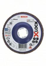 Bosch Tarcza listkowa z systemem X-LOCK, wersja prosta, płyta z tworzywa sztucznego, Ø 125 mm, G 80, X571, Best for Metal, 1 szt.