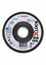 Bosch Fibrové brúsne kotúče X-LOCK, zakrivená verzia, fibrová doska, Ø125 mm, G 120, X571, Best for Metal, 1 ks