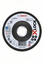 Bosch Fibrové brúsne kotúče X-LOCK, zakrivená verzia, fibrová doska, Ø125 mm, G 60, X571, Best for Metal, 1 ks