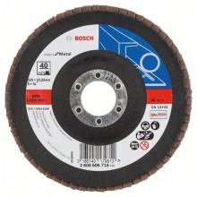 Bosch Vejárovité brúsne kotúče X551, Expert for Metal, vyhotovenie s prelisom – EN 13743