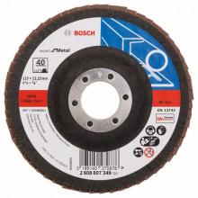 Bosch Vejárovité brúsne kotúče X551, Expert for Metal, rovné vyhotovenie – EN 13743