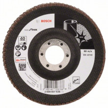 Bosch Vejárovité brúsne kotúče X581, Best for Inox, vyhotovenie s prelisom – EN 13743