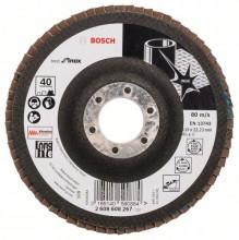 Bosch Vejárovité brúsne kotúče X581, Best for Inox, rovné vyhotovenie – EN 13743