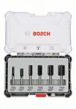 Bosch Súprava frézovacích bitov, rovný 6 mm driek