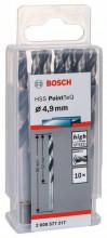 Bosch Spirálový vrták HSS PointTeQ 4,9mm