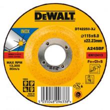 DeWALT brusný kotouč na narezovou ocel, vypouklý 230-22-6 mm