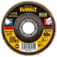 DeWALT brusný lamelový kotouč Extreme na kov plochý 115-22.2 mm 40G