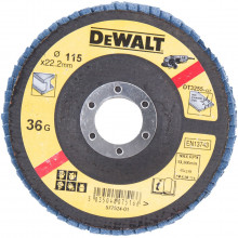 DeWALT brusný lamelový kotouč na kov vypouklý 115-22.2 mm 36G
