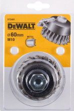 DeWALT drátěný talířový kartáč, kroucené uzly, pro úhlovou brusku 65 x 18 mm