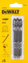 DeWALT DT2049 pilový plátek HCS, na dřevo, 100 mm (5ks)