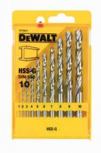 DeWALT DT5921 sada vrtáků HSS-G, na kov (10 ks)