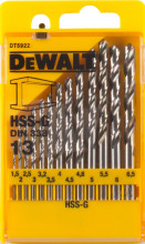 DeWALT DT5922 sada vrtáků HSS-G, na kov (13 ks)