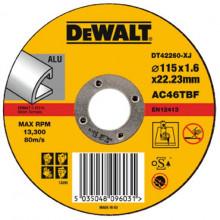 DeWALT řezný kotouč Extreme na hliník, plochý 125-22.2-1.6 mm