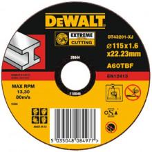 DeWALT řezný kotouč Extreme  na kov rovný  115-22.2-1.6 mm