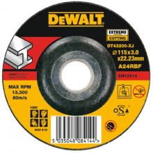 DeWALT řezný kotouč Extreme na kov, vypouklý  115-22.2-3 mm