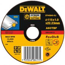 DeWALT řezný kotouč na nerez Extreme, plochý 115-22.2-1.2 mm