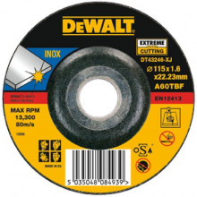 DeWALT řezný kotouč  na nerez Extreme, vypouklý 115-22.2-1.6 mm