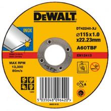 DeWALT řezný kotouč na nerez, plochý 115-22.2-1.6 mm