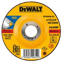 DeWALT řezný kotouč na nerezovou ocel, vypouklý 180-22.2-3 mm