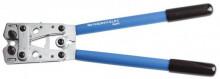 Lisovací kleště na kabelové koncovky s otočnými čelistmi