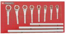 Facom 8dílná sada očkových klíčů pro velkou zátěž
