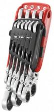 Facom 10dílná sada ráčnových klíčů s protiskluzným profilem