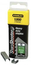 """STANLEY 6mm/1/4"""" Spony pro vysoké zatížení 1000 ks typ G 4/11/140"""