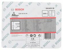 BOSCH Hřebíky s hlavou tvaru D v pásu SN34DK 90 - 3,1 mm, 90 mm, bez povrchové úpravy, hladký