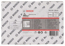 BOSCH Hřebíky s kulatou hlavou v pásu SN21RK 75RHG - 2,8 mm, 75 mm, žárově pozinkovaný, drážkovaný